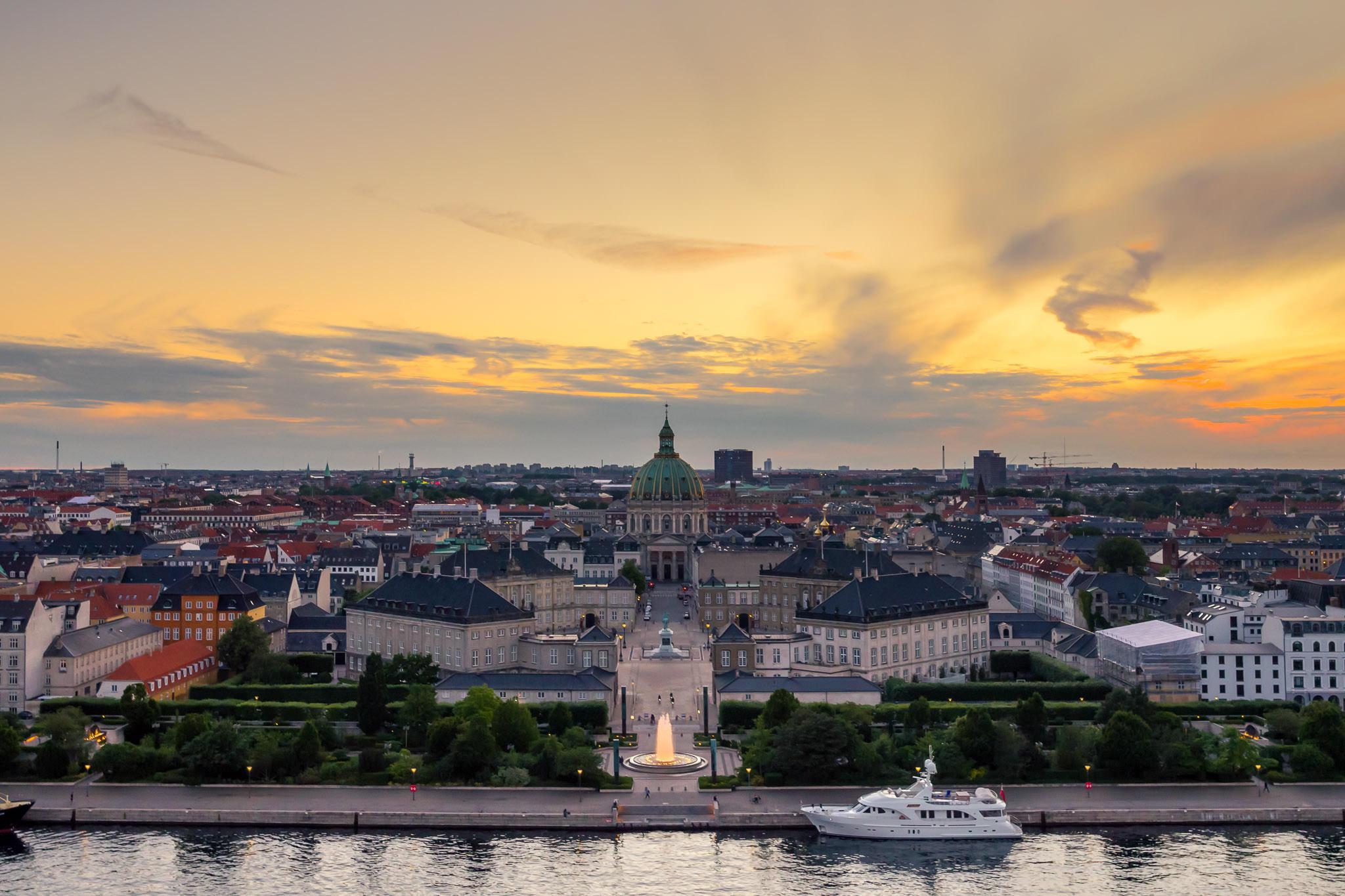 Luftfoto af Amalienborg Slot, København