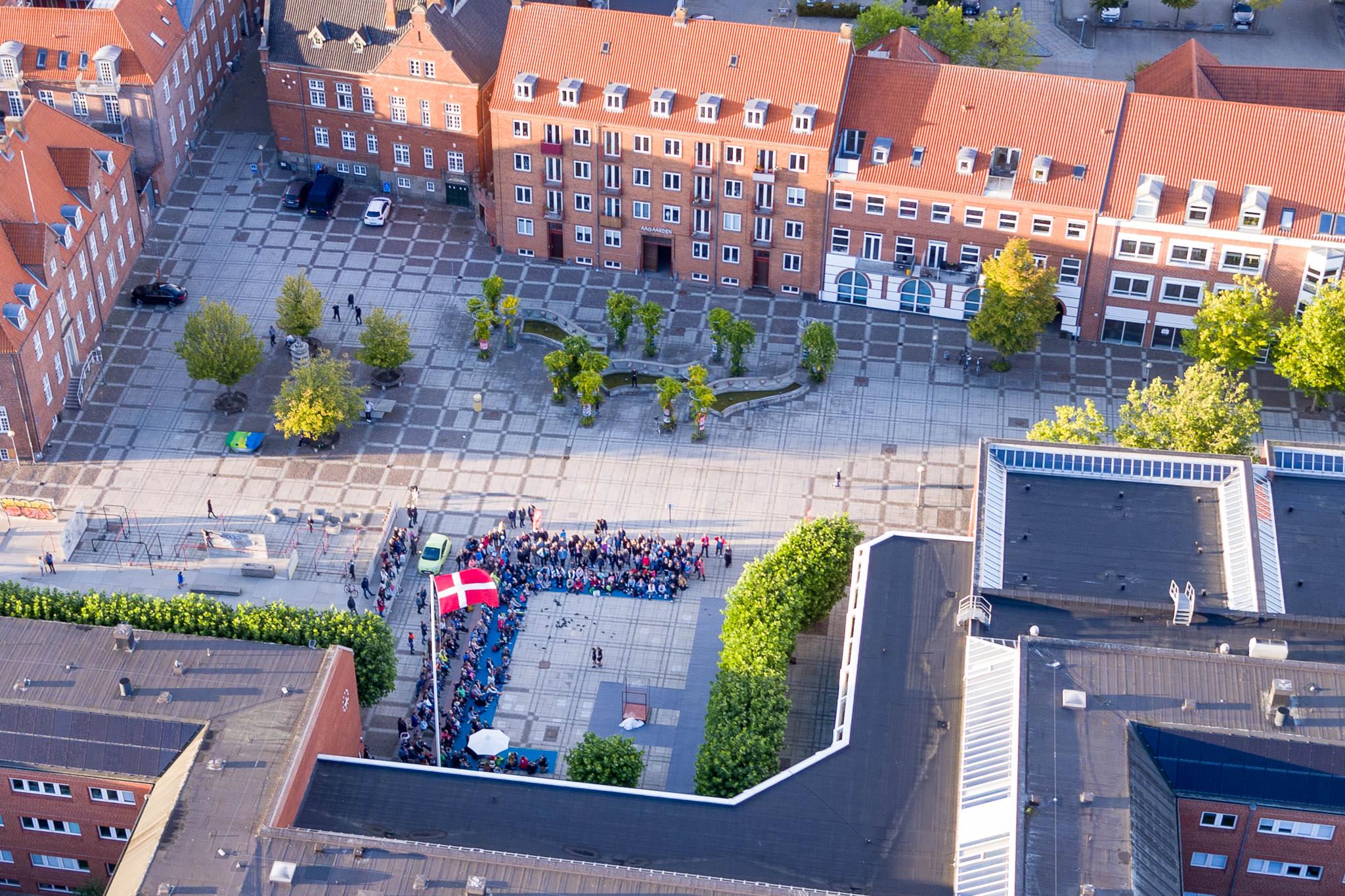 Luftfoto af Horsens Teaterfestival
