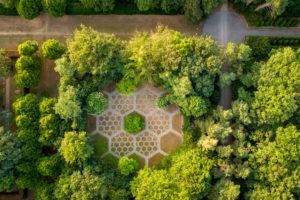 Luftfoto Mariebjerg Kirkegård